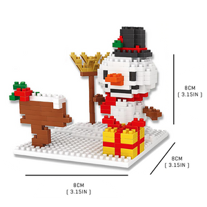 Cute Snow Man |  3d puzzle | nano blocks | brickcenter.myshopify.com