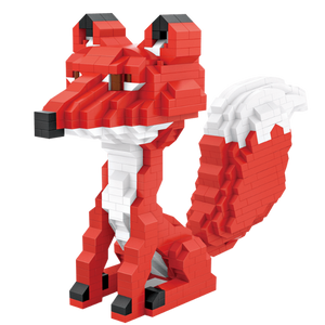 Red Fox |  3d puzzle | nano blocks | brickcenter.myshopify.com