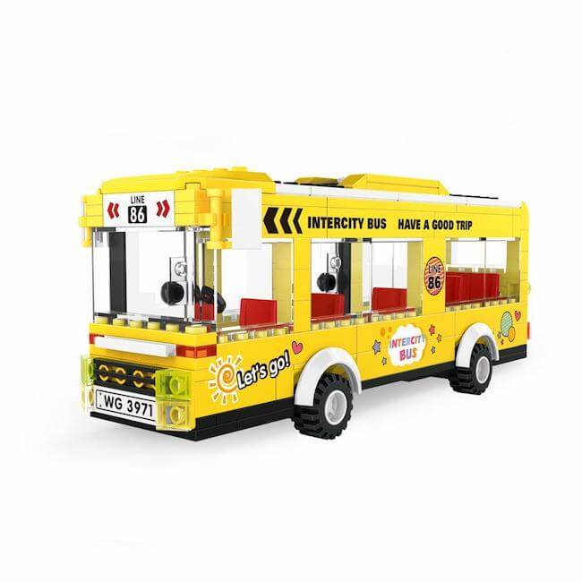 Intercity Yellow Bus |  3d puzzle | nano blocks | brickcenter.myshopify.com