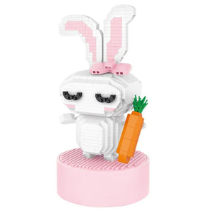Rabbit Music Box |  3d puzzle | nano blocks