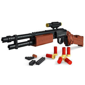 Remington M870 Shotgun 527 |  3d puzzle | nano blocks | brickcenter.myshopify.com
