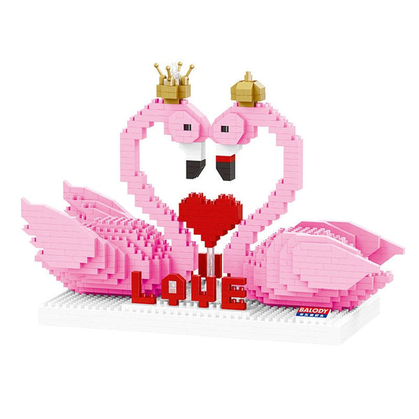 Love Flamingos |  3d puzzle | nano blocks | brickcenter.myshopify.com