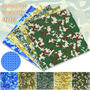 Camouflage Baseplate |  3d puzzle | nano blocks
