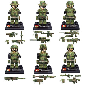 Infantry Special Forces 6Pcs |  3d puzzle | nano blocks | brickcenter.myshopify.com