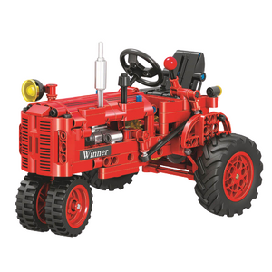 Classical Red Tractor |  3d puzzle | nano blocks | brickcenter.myshopify.com