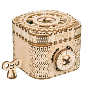 Wooden Puzzle Treasure Box