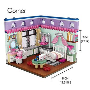 Cozy Bedroom Set |  3d puzzle | nano blocks