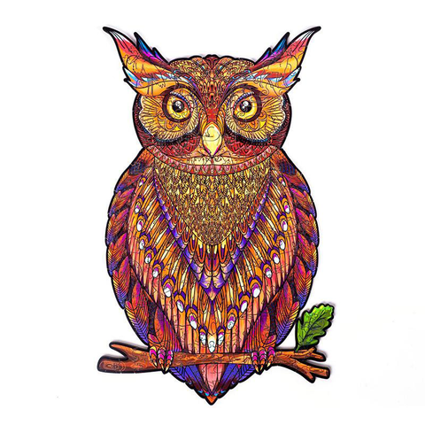 Nocturnal Owl Wooden Puzzle