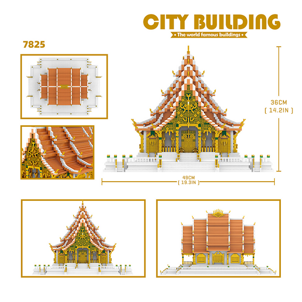Thai Grand Palace |  3d puzzle | nano blocks | brickcenter.myshopify.com