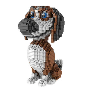 Beagle |  3d puzzle | nano blocks