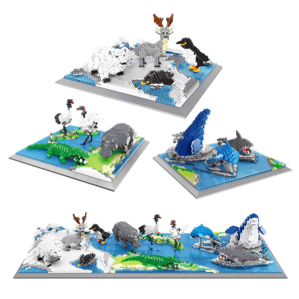 Wild Arctic Animals Set |  3d puzzle | nano blocks | brickcenter.myshopify.com