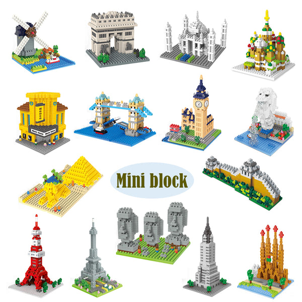 Molen Kinderdijk-Elshout (De Dutch) Nano Blocks Set |  3d puzzle | nano blocks | brickcenter.myshopify.com