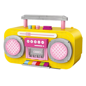 Yellow/Pink Juke Box |  3d puzzle | nano blocks