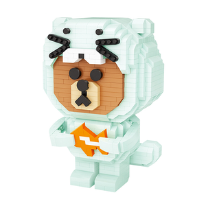 Little Hungry Polar Bear |  3d puzzle | nano blocks | brickcenter.myshopify.com