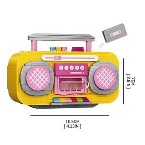 Yellow/Pink Juke Box |  3d puzzle | nano blocks | brickcenter.myshopify.com
