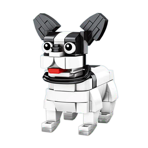 Little Boston Terrier |  3d puzzle | nano blocks | brickcenter.myshopify.com
