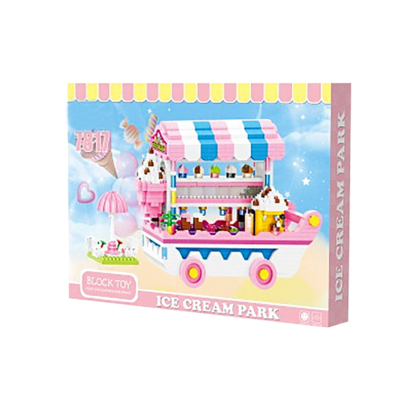Pink Ice Cream Cart |  3d puzzle | nano blocks | brickcenter.myshopify.com