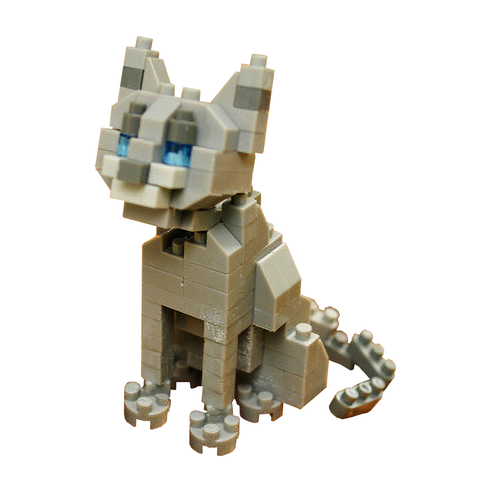 Little Russian Blue Cat |  3d puzzle | nano blocks | brickcenter.myshopify.com