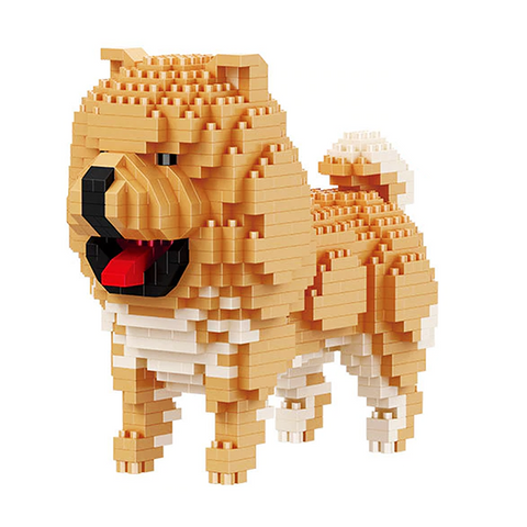 Little Chow Chow |  3d puzzle | nano blocks | brickcenter.myshopify.com