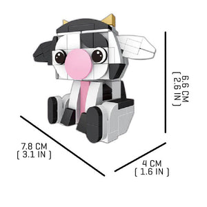 Tiny-Cow |  3d puzzle | nano blocks | brickcenter.myshopify.com
