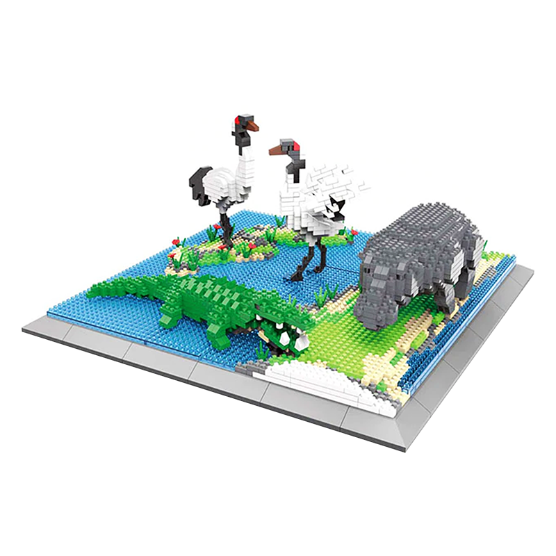 Wild Swamp Animals Set |  3d puzzle | nano blocks | brickcenter.myshopify.com