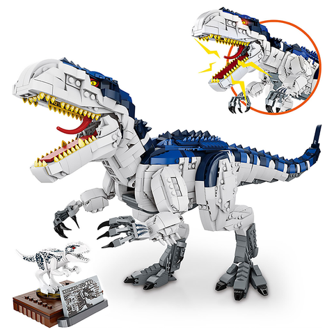Fierce Blue Tyrannosaurus Rex |  3d puzzle | nano blocks | brickcenter.myshopify.com