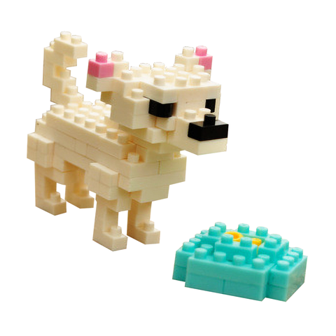 Little Playful Chihuahua |  3d puzzle | nano blocks | brickcenter.myshopify.com