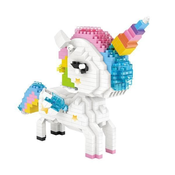 Rainbow Unicorn |  3d puzzle | nano blocks | brickcenter.myshopify.com