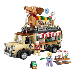 Dachshund Hot Dog Truck |  3d puzzle | nano blocks