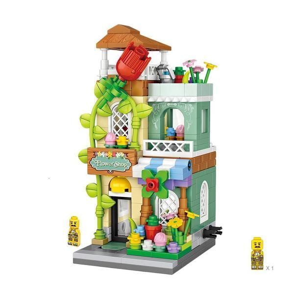 Mini Street Flower Shop |  3d puzzle | nano blocks | brickcenter.myshopify.com