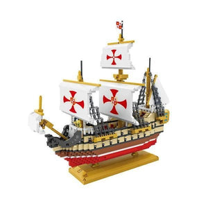 Santa Maria Ship |  3d puzzle | nano blocks