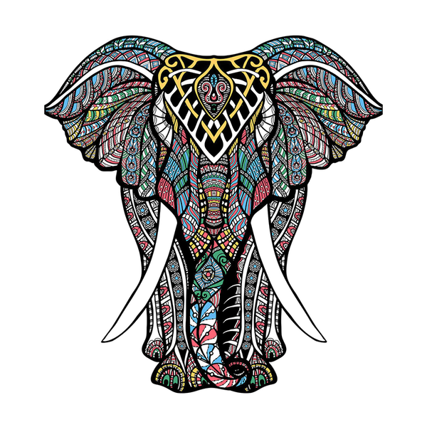 Brilliant Elephant Wooden Puzzle