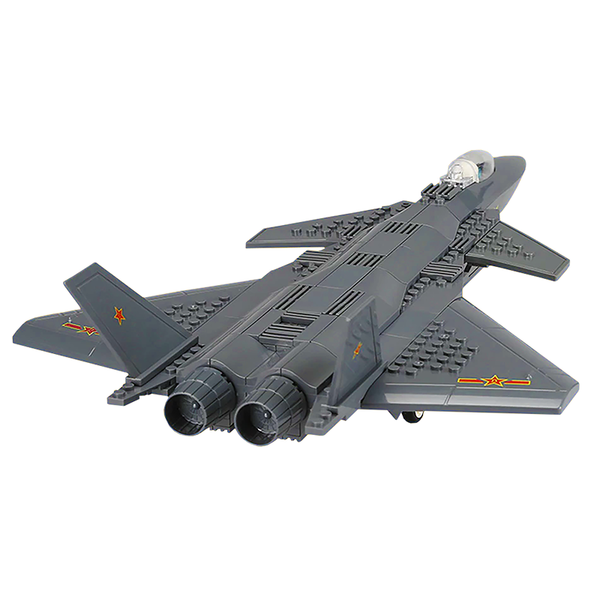 J20 Fighter Jet |  3d puzzle | nano blocks | brickcenter.myshopify.com