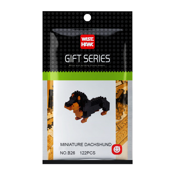 Cute & Tiny Dachshund |  3d puzzle | nano blocks | brickcenter.myshopify.com