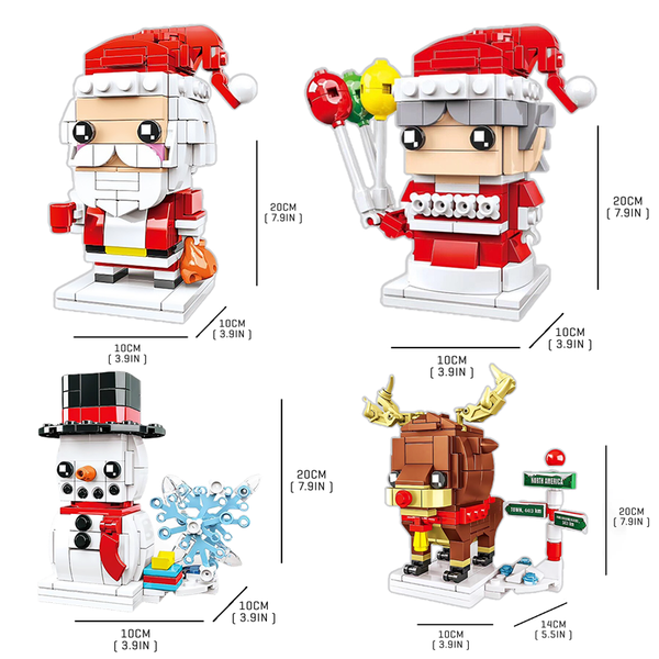 Little Christmas Claus Set |  3d puzzle | nano blocks | brickcenter.myshopify.com