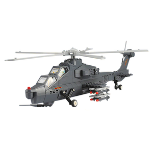 WZ-10 Attack Helicopter |  3d puzzle | nano blocks | brickcenter.myshopify.com