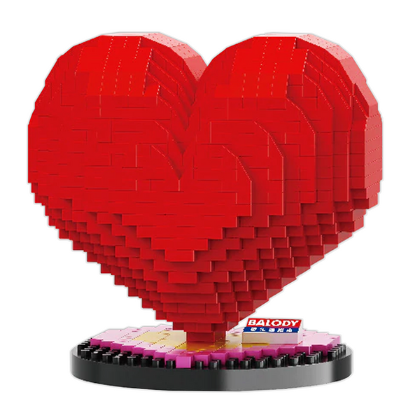 Lovely Valentine Heart |  3d puzzle | nano blocks | brickcenter.myshopify.com