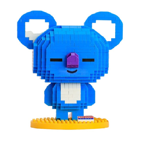 Happy Blue Koala |  3d puzzle | nano blocks | brickcenter.myshopify.com