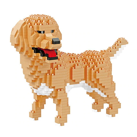 Little Labrador Retriever |  3d puzzle | nano blocks | brickcenter.myshopify.com