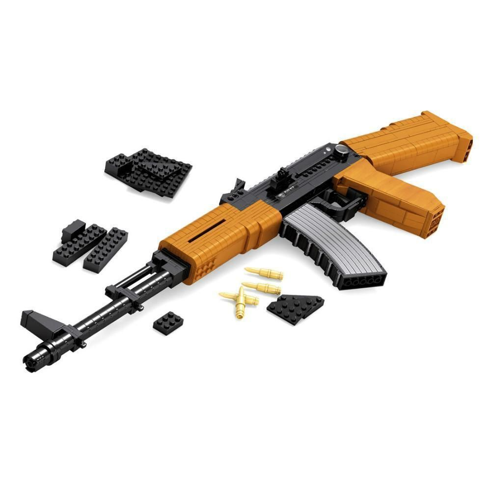 AK-47 Assault Rifle |  3d puzzle | nano blocks | brickcenter.myshopify.com