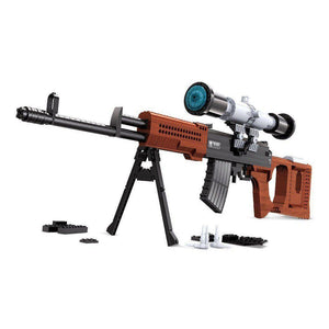 Dragunov SVD Sniper Rifle |  3d puzzle | nano blocks | brickcenter.myshopify.com