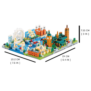 London City Streets |  3d puzzle | nano blocks