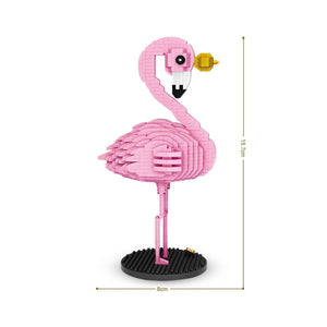 Flamingo |  3d puzzle | nano blocks