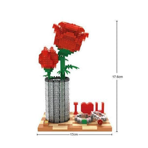 Love Rose |  3d puzzle | nano blocks | brickcenter.myshopify.com