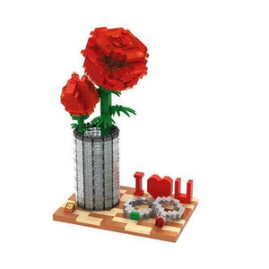 Love Rose |  3d puzzle | nano blocks