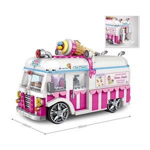 Pink Ice Cream Truck |  3d puzzle | nano blocks | brickcenter.myshopify.com