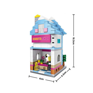 Mini Building - Donut Shop (346 pcs) |  3d puzzle | nano blocks | brickcenter.myshopify.com