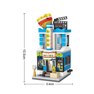 Mini Street Movie Theatre |  3d puzzle | nano blocks