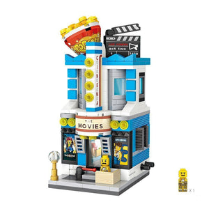 Mini Street Movie Theatre |  3d puzzle | nano blocks | brickcenter.myshopify.com
