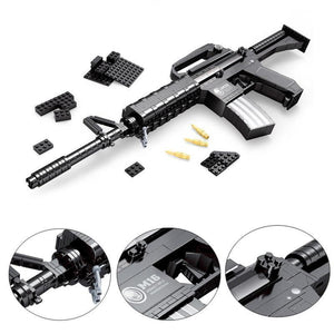 M16 Assault Rifle |  3d puzzle | nano blocks
